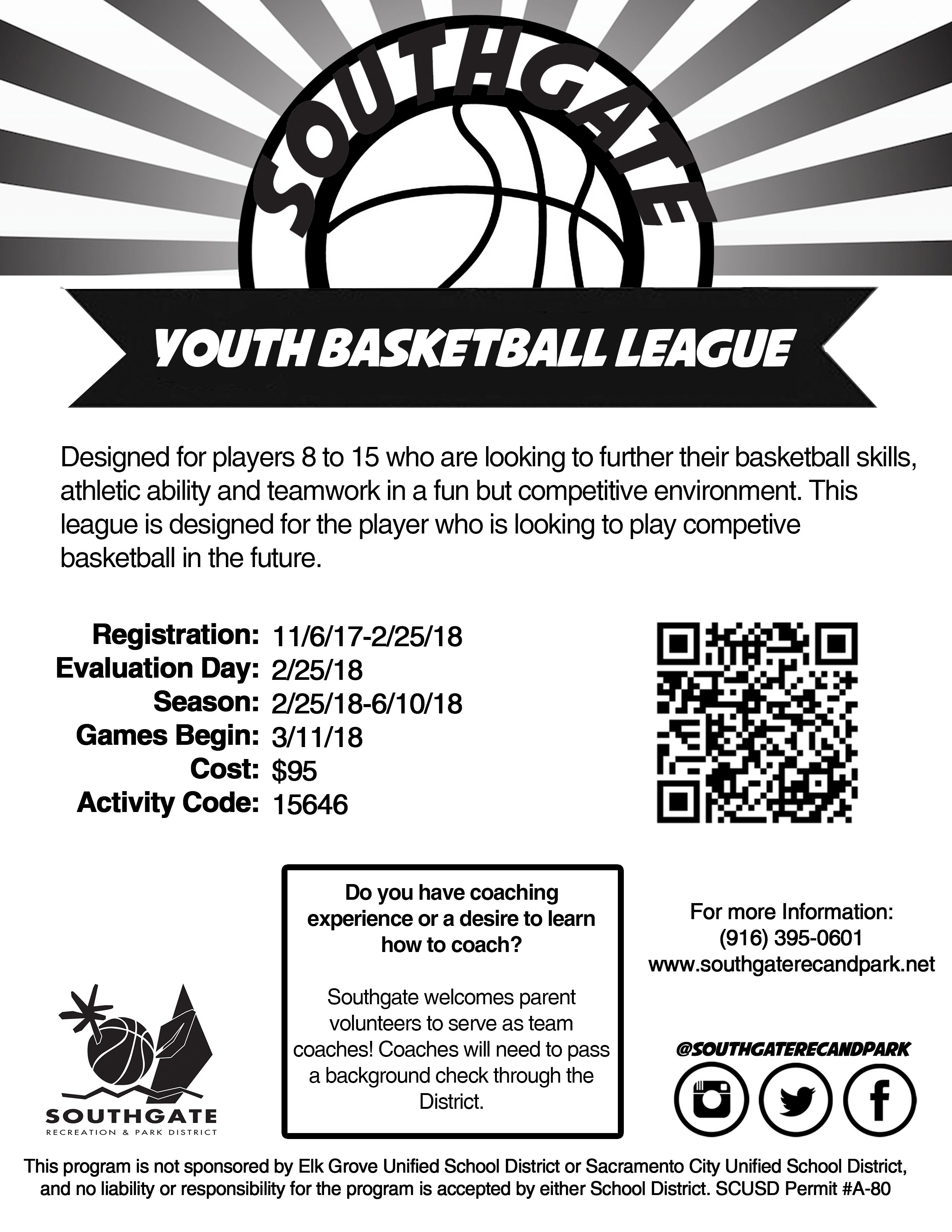 Southgate Youth Basketball Flyer