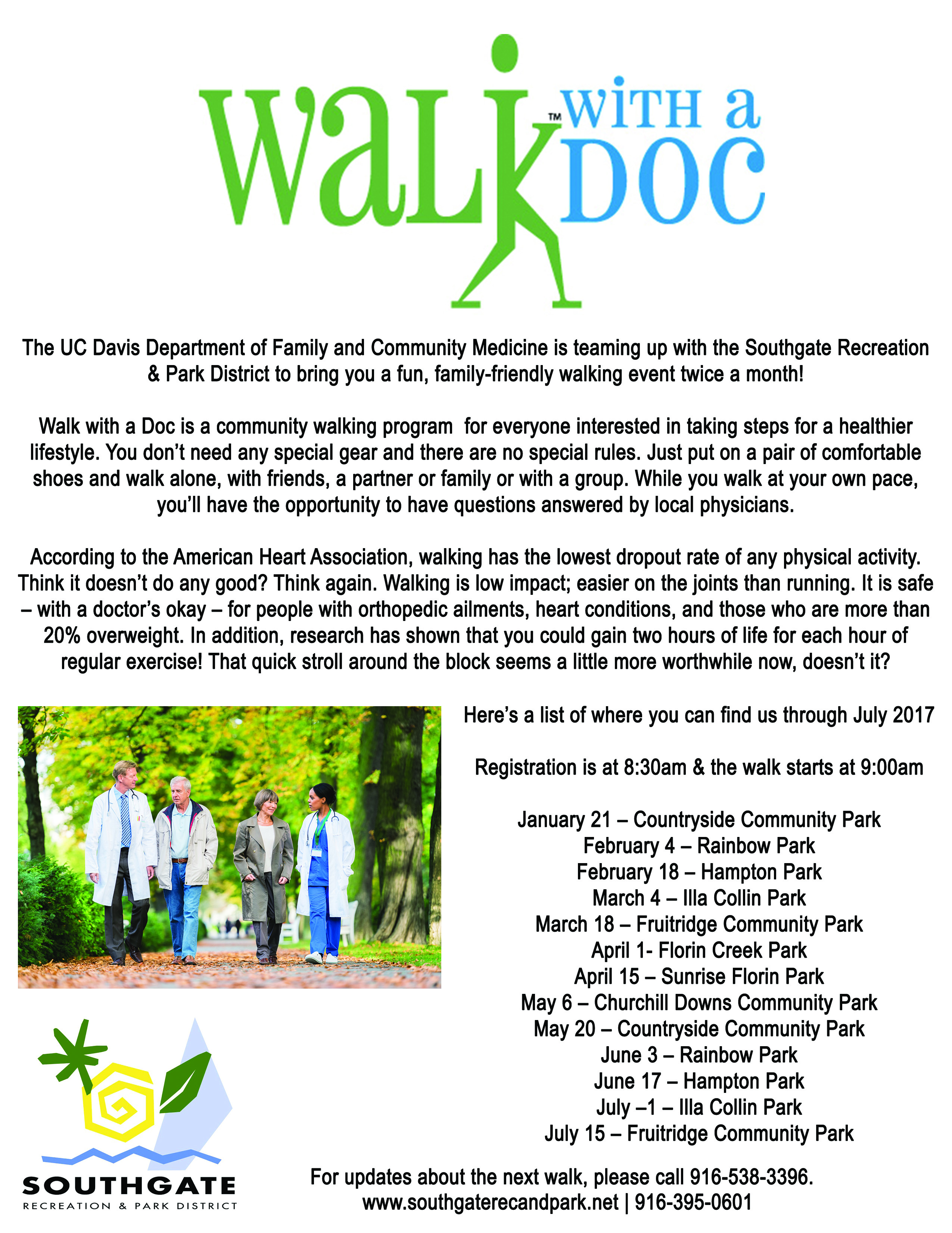 Walk with a Doc Flyer